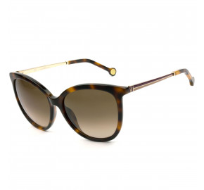 Carolina Herrera SHE798 - Turtle/Marrom Degradê 01AY 56mm - Óculos de Sol