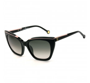Carolina Herrera SHE832 - Preto Cinza Degradê 0700 54mm - Óculos de Sol