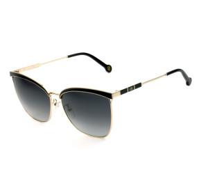 Carolina Herrera SHE151 - Preto Dourado/Cinza Degradê 0301 59mm - Óculos de Sol