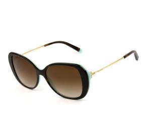 Tiffany & Co. TF4156 Turtle/Marrom Degrade 8134/3B 55mm - Óculos de Sol