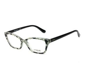 Vogue VO5289 Preto/Branco Floral 2768 53mm - Óculos de Grau