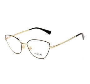 Vogue VO4142B Preto/Dourado 280 54mm - Óculos de Grau