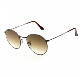 Ray Ban Round Metal RB3447-NL Grafite/Marrom Degrade 004/51 53mm - Óculos de Sol