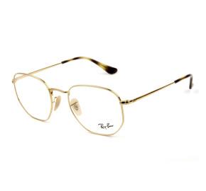 Ray Ban Hexagonal RB6448 Dourado 2500 54mm - Óculos de Grau