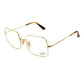 Ray Ban Square RB1971VL Dourado 2500 54mm - Óculos de Grau
