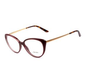 Prada VPR06W Vinho UAN-1O1 53mm - Óculos de Grau