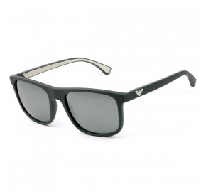 Emporio Armani EA 4129 Cinza Fosco Espelhado 5800/8G 56mm - Óculos de Sol