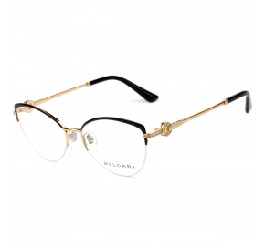 Bvlgari 2217-B Preto 2033 52mm - Óculos de Grau