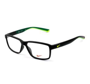 Nike 7092 Preto Fosco/Verde 001 55mm - Óculos de Grau