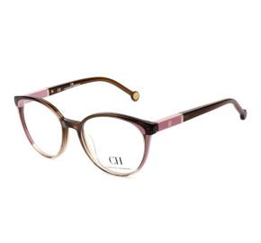 Carolina Herrera VHE815 Marrom 06PB 51mm - Óculos de Grau