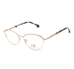 Carolina Herrera VHE169 Dourado 02AM 53mm - Óculos de Grau