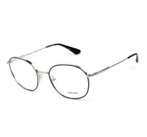 Prada VPR53W Preto/Prata 524-1O1 52mm - Óculos de Grau