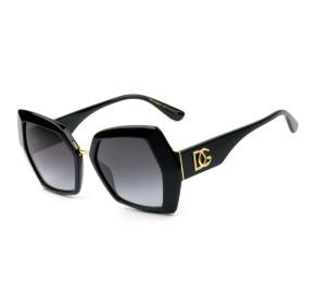 Dolce & Gabbana DG4377 - Preto/Cinza Degradê 501/8G 54mm - Óculos de Sol