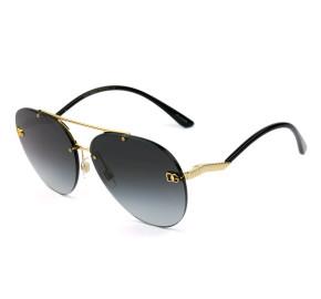 Dolce & Gabbana DG2272 - Dourado/Cinza Degradê 02/8G 61mm - Óculos de Sol