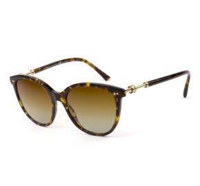 Bvlgari 8235 Turtle/Marrom Degradê Polarizado 504/T5 55mm - Óculos de Sol