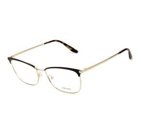 Prada VPR57W Preto/Dourado AVV-1O1 55mm - Óculos de Grau