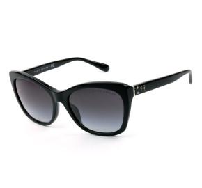 Ralph Lauren RL8192 Preto/Cinza Degradê 5001/8G 56mm - Óculos de Sol