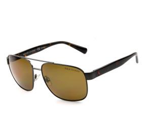 Polo Ralph Lauren PH3130 Grafite/Marrom Polarizado 9157/83 59mm - Óculos de Sol