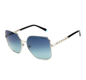 Tiffany & Co. TF3078-B Prata/Azul Degradê 6105/9S 60mm - Óculos de Sol