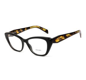 Prada VPR19W Preto/Turtle 1AB-1O1 53mm - Óculos de Grau