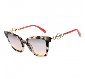 Emilio Pucci EP158 - Mesclado/Coral/Marrom Degradê 55B 54mm - Óculos de Sol