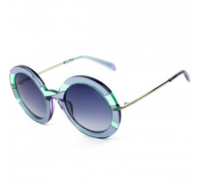 Emilio Pucci EP 143 Roxo /Verde Translucido /Azul Degradê 89W 53mm - Óculos de Sol