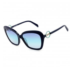 Emilio Pucci EP 165 - Azul Marinho Brilho/Azul Degradê 90W 58mm - Óculos de Sol
