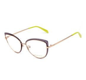 Emilio Pucci EP 5143 Dourado/ Azul Translucido 080 55mm - Óculos de Grau
