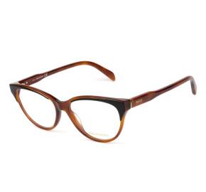Emilio Pucci EP 5165 Marrom Translucido/Preto 056 54mm - Óculos de Grau
