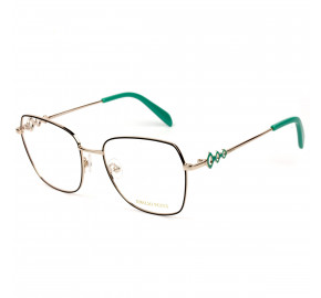 Emilio Pucci EP 5179- Preto/Dourado 005 54mm - Óculos de Grau
