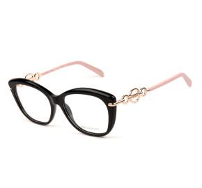 Emilio Pucci EP 5163 Preto/Rosa 001 55mm - Óculos de Grau