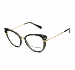 Dolce & Gabbana DG5051 Cinza Translucido 3160 53mm - Óculos de Grau