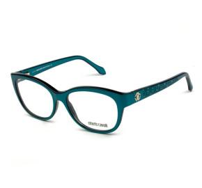 Roberto Cavalli Atria 846 - Verde/Prata 092 55mm - Óculos de Grau