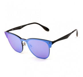 Ray Ban Blaze Clubmaster RB3576-N - Preto/Azul Espelhado 153/7V 47mm  - Óculos de Sol