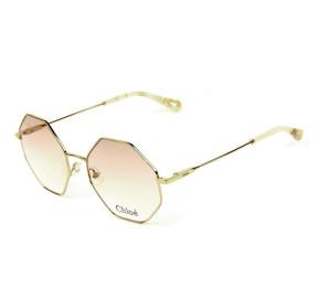 Chloé CE 2134 - Óculos de Grau 717 Bege/Dourado Lente 55mm