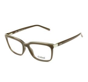 Chloé CE 2661 - Óculos de Grau 272 Marrom/Dourado Lente 53mm