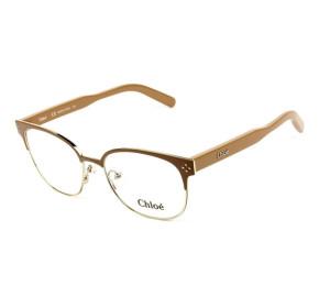 Chloé CE 2131 Óculos de Grau 703 Bege/Dourado Lente 53mm