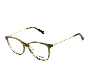 Chloé CE 2727 - Óculos de Grau 303 Verde/Dourado Lente 54mm