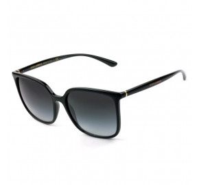 Dolce & Gabbana DG 6112 - Óculos de Sol Preto Brilho 501/8G Lentes 56mm