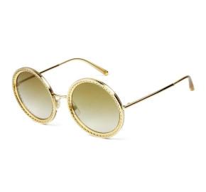 Dolce & Gabbana DG2211 - Óculos de Sol Dourado Degradê  02/6E  Lentes 53mm