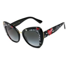 Dolce & Gabbana DG4319 - Óculos de Sol 3180/8G Preto Estampado Lentes 51mm