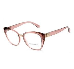 Dolce & Gabbana DG5041 - Óculos de Grau 3148 Rosa Translucido Lentes 53mm