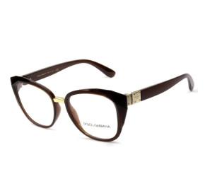 Dolce & Gabbana DG5041 - Marrom Translúcido 3159 53mm - Óculos de Grau