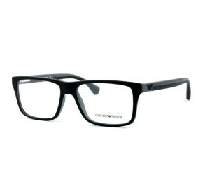 Emporio Armani EA3034 - Preto/Cinza Fosco 5229 55mm - Óculos de Grau