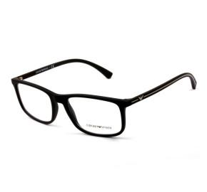 Emporio Armani EA3135 - Preto Fosco 5063 55mm - Óculos de Grau