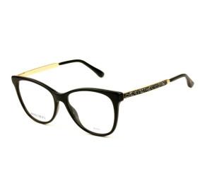 Jimmy Choo JC199 - Preto/Dourado 807 53mm - Óculos de Grau