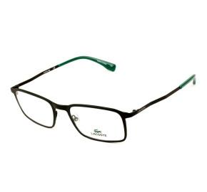 Lacoste L2240 - Preto Fosco/Verde 002 55mm - Óculos de Grau