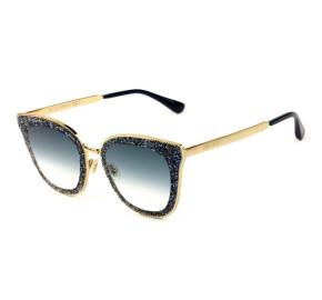 Jimmy Choo LIZZY/S - Dourado/Azul Degradê KY208 63mm - Óculos de Sol