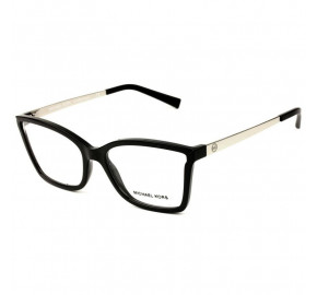Michael Kors MK4058 - Preto/Dourado 3332 54mm - Óculos de Grau