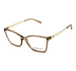 Michael Kors MK4058 Caracas - Óculos de Grau Marrom/Dourado 3501 Lentes 54MM
